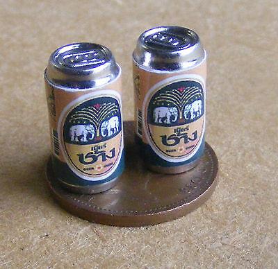 1:12 Scale 2 Empty Coca Cola Coke Drink Cans Tumdee Dolls House Pub Bar Zero