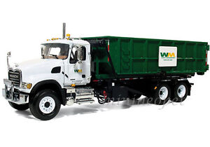 FIRST-GEAR-19-3441-MACK-GRANITE-ROLL-OFF-WASTE-MANAGEMENT-DUMP-TRUCK-1-34