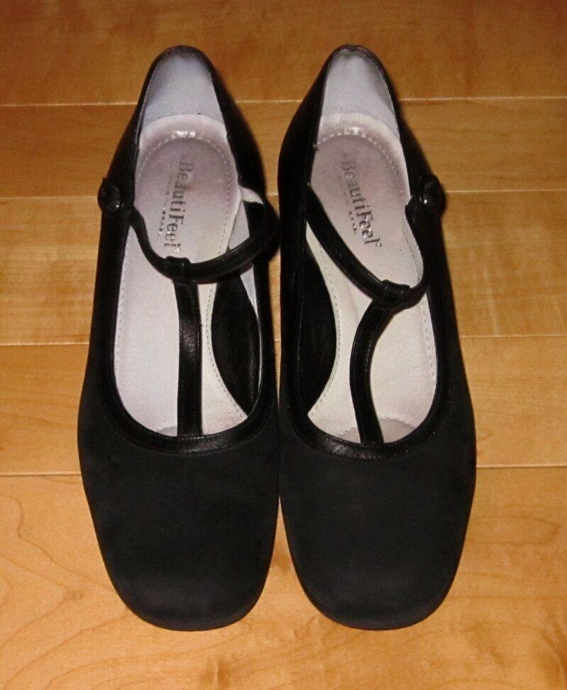 Beautifeel Wms nero Leather  Sue Mary Jane Style 38  qualità ufficiale