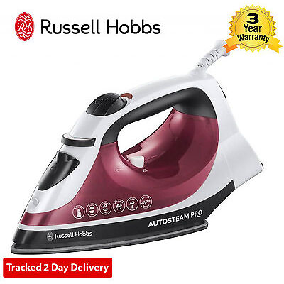 Russell Hobbs 18680 / 82 Auto Steam Home Iron Non Stick Non-Drip 2400W White Pk
