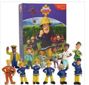 Fireman-Sam-My-Busy-Book-12-Character-Figurines-amp-Play-mat-Brand-New