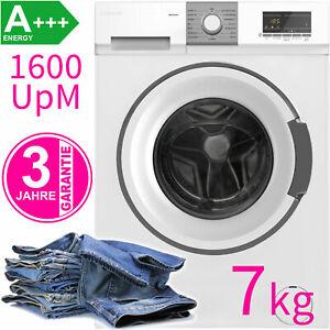 Frontlader Waschmaschine 1600 UpM Display Waschautomat 7 kg Allergie-Progr