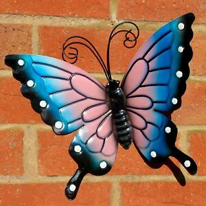 BUTTERFLY LARGE BLUE METAL BUTTERFLIES  WALL ART OUTDOOR GARDEN DECORATION - Rotherham, United Kingdom - BUTTERFLY LARGE BLUE METAL BUTTERFLIES  WALL ART OUTDOOR GARDEN DECORATION - Rotherham, United Kingdom