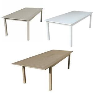 Tavolo In Alluminio Per Esterno.Tavolo Cuba Per Esterno Da Giardino Allungabile In Alluminio
