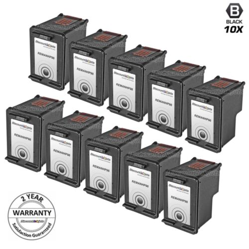 10pk for HP 98 C9364WN OfficeJet 100 150 6310 6310xi DeskJet 5940xi H470 H470wbt