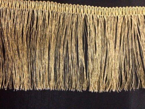 """Gold Lurex métallisé Fringe Dress bordure de Noël décoration 1.5/"""" 3.25/"""" Craft 1 Yd environ 0.91 m"""