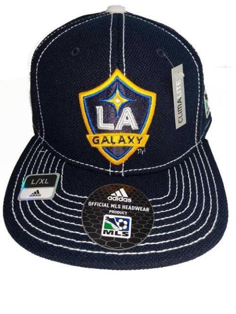 half off a653a 9e84b New Los Angeles LA Galaxy Adult Mens Size L XL Adidas Climalite Flatbrim Hat   28