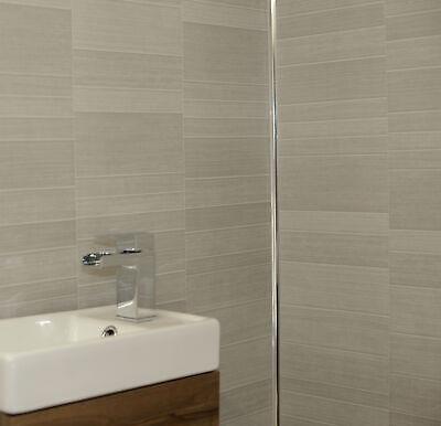 light grey small tile effect wall panels pvc bathroom