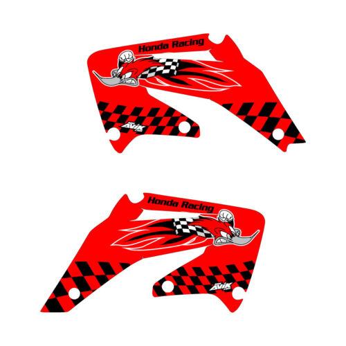 Honda 2002-2004 CRF450 Woody Shroud Graphics Red FREE SHIPPING!!!