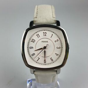 Fossil-Womens-ES4216-Stainless-Steel-Square-Dial-White-Leather-Strap-Watch
