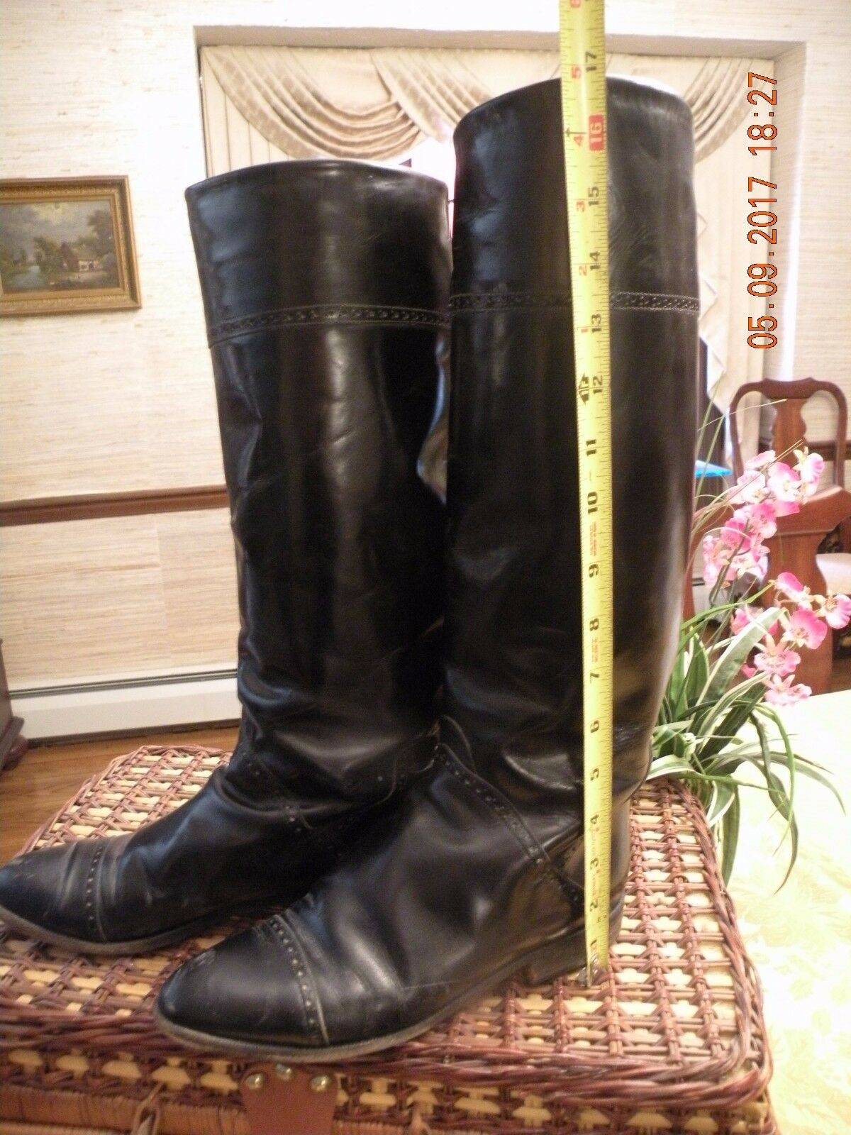 Vintage Classic Italian Leather Charles David Riding Boots  - 1980's 8.5 B