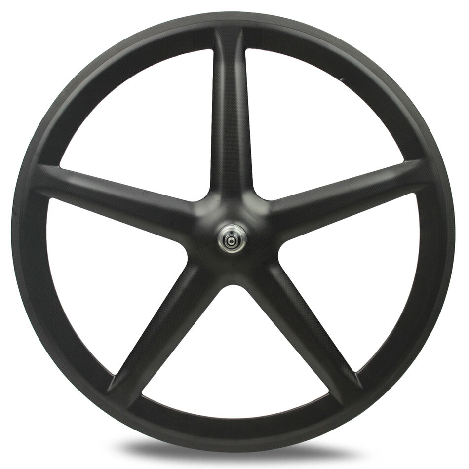 700C five spokes clincher full carbon fibre 5 spokes carbon wheel for front
