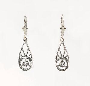 9901462 925er Silber Ohrringe Ohrhänger Swarovski-Steine Antikstil L3,5cm
