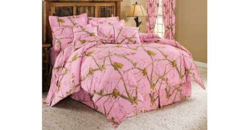 Realtree Pink Camo Camouflage Bedding, Realtree Pink Camo Bedding Queen