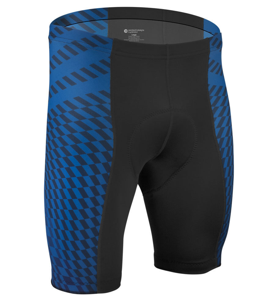 Aero Tech Designs Power Tread Padded Spandex Cyling Short Bike Shorts USA Made