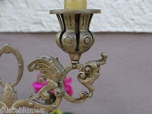 2-Leuchter-Kerzenstaender-Bronze-Kerzenhalter-1890-Engel-Fratzen-Putto-Fabelwesen