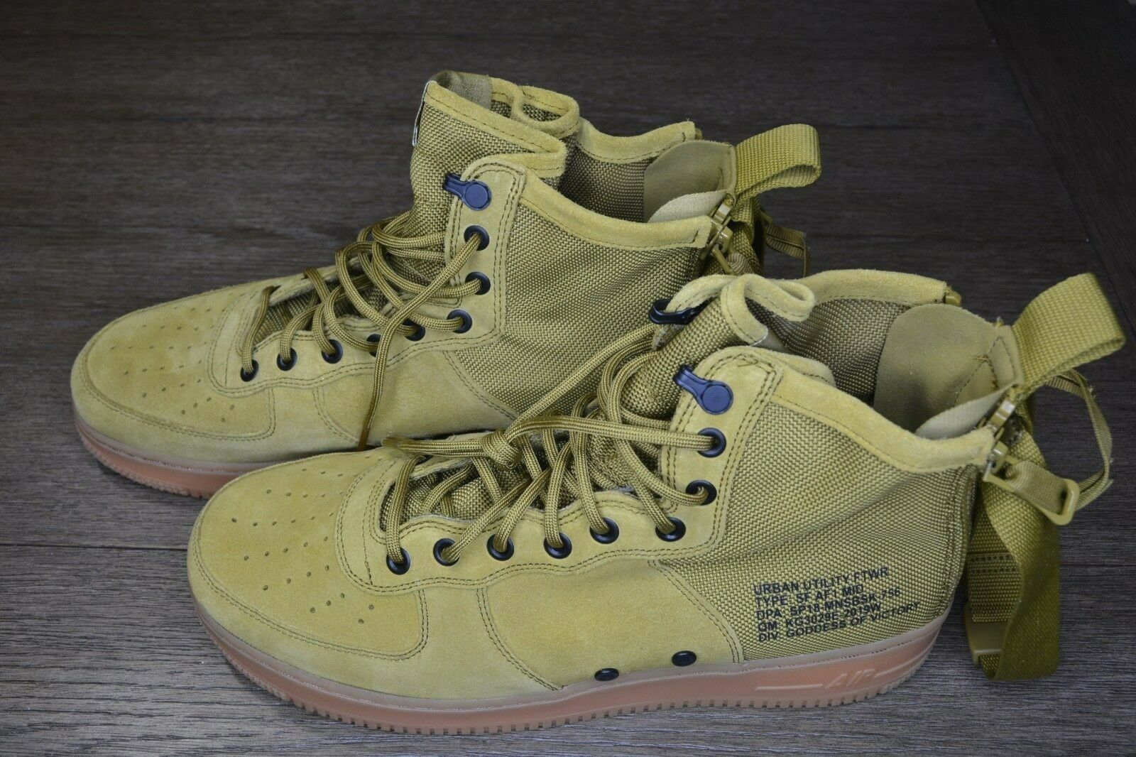 Brand New SF AF1 MID Desert Moss Men's 10 Athletic Fashion Sneakers [917753 301]