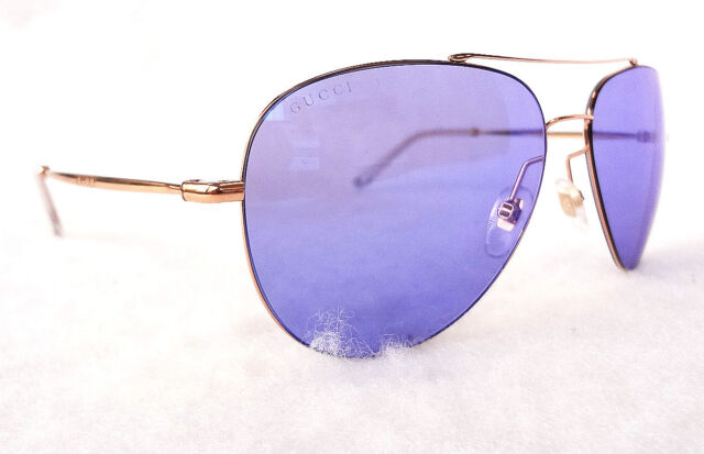 675ff277b3 GUCCI Men s Sunglasses GG0500S Gold Violet Aviator 59-14-140 MADE IN ITALY
