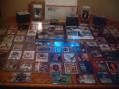 SPORTS CARD COLLECTION HUGE PREMIUM LOT AUTO GAME USED  ROOKIE INSERT GRADED SET
