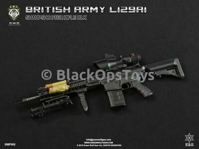 1//6 Scale Green Wolf Gear BLACK British Sharpshooter Rifle Set Mint in Box