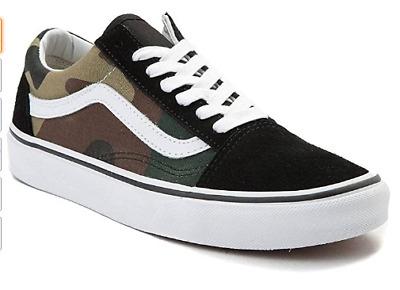$120 Vans Low- Top Camo Sneakers Shoes