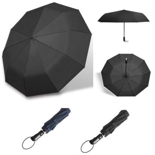Super Wide Umbrella Outdoor 10-Rib Strong Windproof 46 Inch Automatic Folding