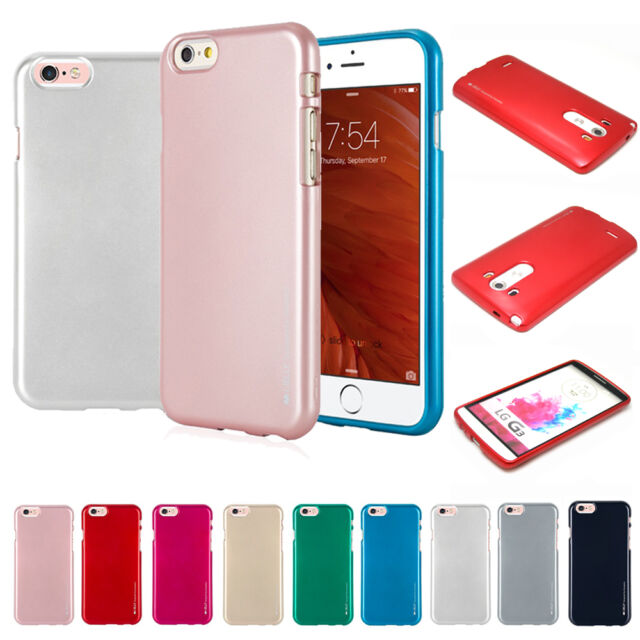 Shock Absorption Slim Metal feeling Jelly Case Cover TPU For iPhone Galaxy LG