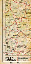 Edersee Marburg Gießen 1938 orig. Teil-Straßenkarte Reichsautobahn Frankenberg