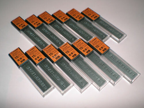 12x15 Ecobra Super-Hi-polymer Druckbleistift Minen 0,9 HB 60mm 839902 Feinminen