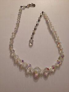 Vintage-AB-Facet-Cut-Crystal-Rhinestone-16-034-Necklace-564