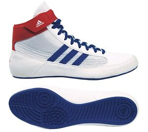 White Royal Red Wrestling Shoes