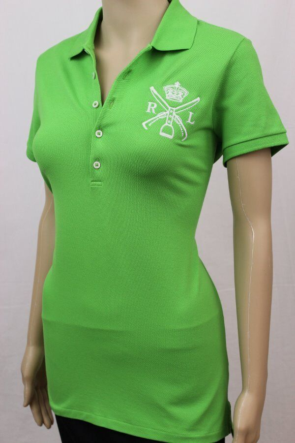 Ralph Lauren Ladies Short Sleeve Polo Racing Grün NWT