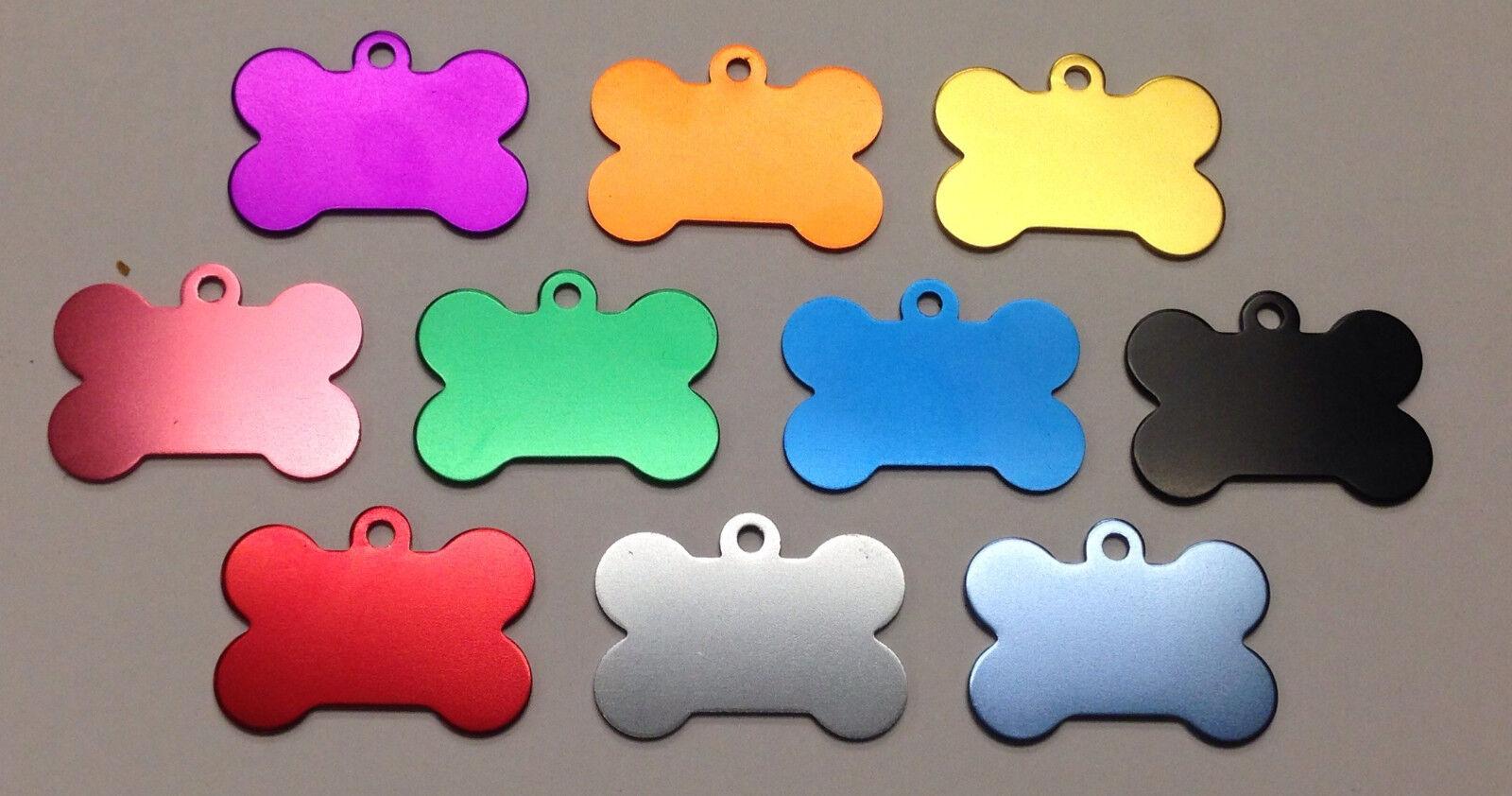 300 Bulk ID Wholesale Bone Pet identification blank tags Anodized Aluminum  1USA