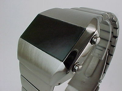 GUN METAL Rare Old Vintage 70s 1970s Style LED LCD DIGITAL Retro watch tsg