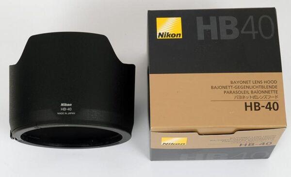 Amical Nikon Paresoleil Hb40 Pour Zoom Af-s 24-70 F/2,8