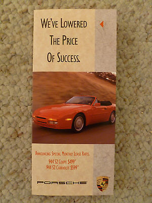 Awesome Prospekt RARE 1991 Porsche Safety Showroom Advertising Sales Brochure