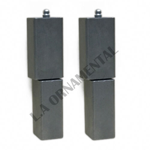"5/"" Steel Heavy duty Barrel Weld Square Driveway Gate Hinge ball bearing Pair"