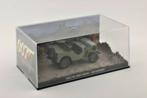 Metal-Voiture-Miniature-1-43-diorama-Willys-Jeep-m606-James-Bond-007-Octopussy