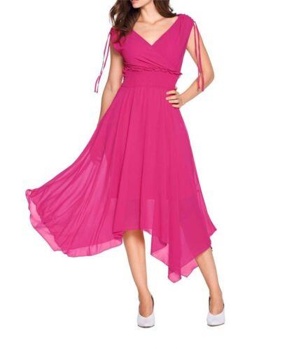 Ashley Brooke Damen Designer-Georgettekleid pink