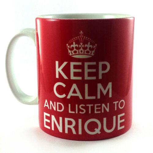 KEEP CALM AND LISTEN TO ENRIQUE IGLESIAS GIFT MUG CUP BRITANNIA RETRO CARRY ON