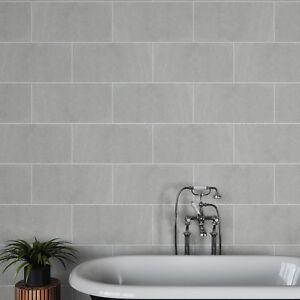 Image Is Loading British Ceramic Tile BCT58588 Venice Light Grey Matt