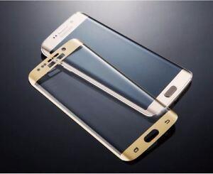 3D-protector-de-pantalla-de-vidrio-templado-completo-Curvo-Oro-Para-Samsung-Galaxy-S7-Edge