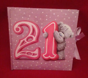Details about ME TO YOU BEAR TATTY TEDDY 21ST BIRTHDAY RIBBON PHOTO ALBUM  GIFT