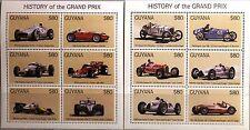 Guyana 1998 KLB 6307-18 blocco 568-69 automobili da corsa Race Cars Corsa Auto