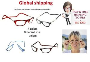 72bf6b18246 Image is loading Click-Adjustable-Magnetic-Front-Connect-Reading-Eyeglasses- Full-