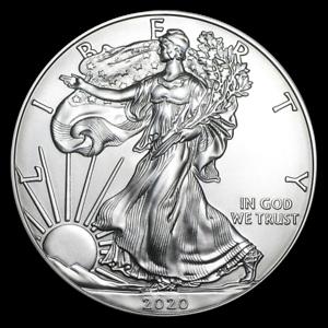 ETATS-UNIS-1-Dollar-Argent-1-Once-Silver-Eagle-2020