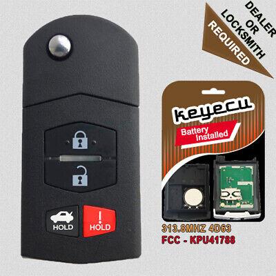 for Mazda CX5 CX7 RX8 CX9 MX5 KPU41788 4238A-41525 Shell Replacement Remote Keyless Fob Key Case