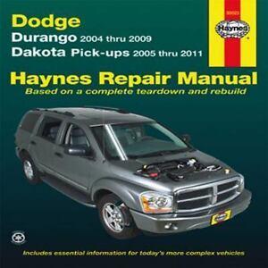 haynes repair manual dodge durango 2004 thru 2009 dakota pick ups rh ebay com Dodge Durango 05 5.7L Magnum 2005 dodge durango repair manual on cd