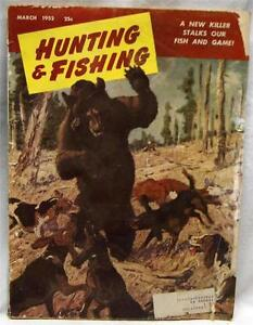 Hunting fishing magazine march 1952 vintage a new killer for Game and fish magazine