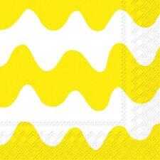 Marimekko LOKKI yellow wave paper lunch napkins new 20 in pack 33 cm sq